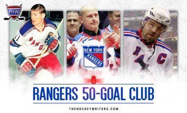 New York Rangers' 50-Goal Scorers