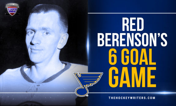 St. Louis Blues' 12 Days of Hockeymas Red Berenson's 6 Goal Game against the Flyers (Nov. 7, 1968)
