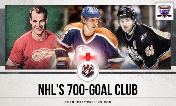 NHL's 700-Goal Club Wayne Gretzky Gordie Howe and Jaromir Jagr