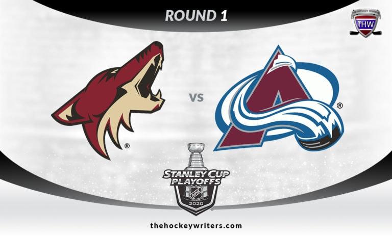 2020 Stanley Cup Playoffs Round 1 Colorado Avalanche vs Arizona Coyotes