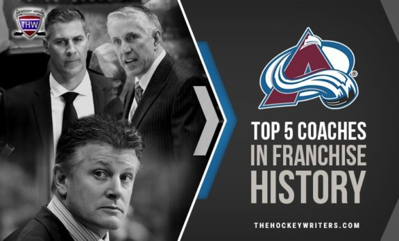 Marc Crawford, Bob Hartley and Jared Bednar Top Five Coaches in Nordiques/Avalanche Franchise History
