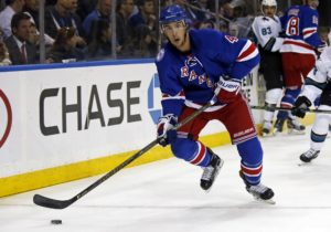 NHL defenseman Adam Clendening of the New York Rangers.