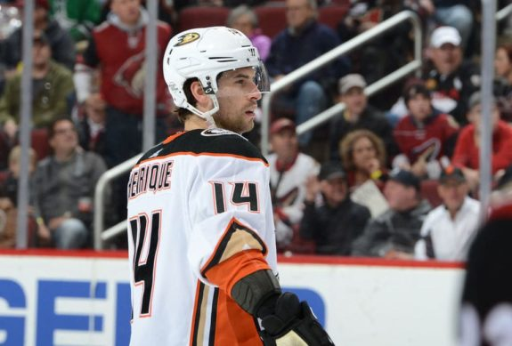 Adam Henrique #14 of the Anaheim Ducks