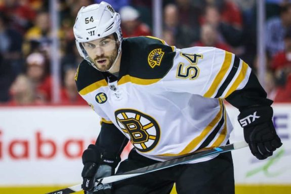Boston Bruins defenseman Adam McQuaid