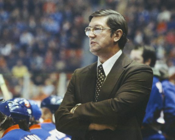 Head Coach Al Arbour of the New York Islanders