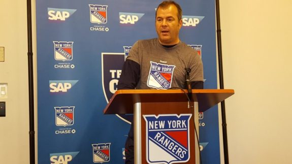 Vigneault Answers Questions from Press