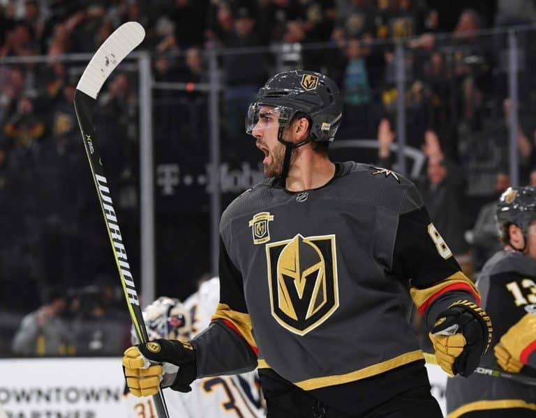 Vegas Golden Knights right wing Alex Tuch