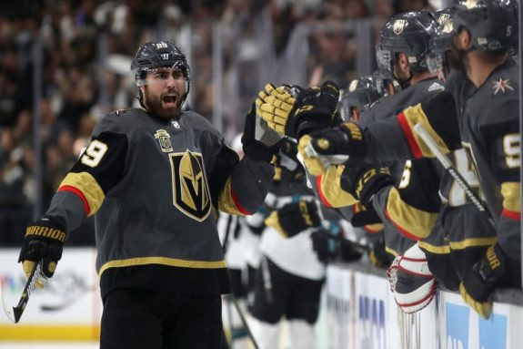 Alex Tuch #89 of the Vegas Golden Knights