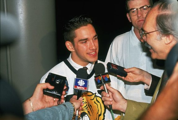 Alexandre Daigle, in a Victoriaville Tigres jersey