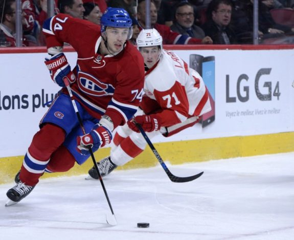 Ex-Montreal Canadiens defenseman Alexei Emelin and Detroit Red Wings forward Dylan Larkin