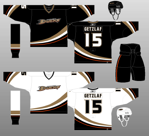 Anaheim Ducks 2006-07 Jerseys