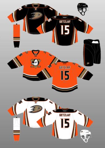 Anaheim Ducks 2015-17 Jerseys