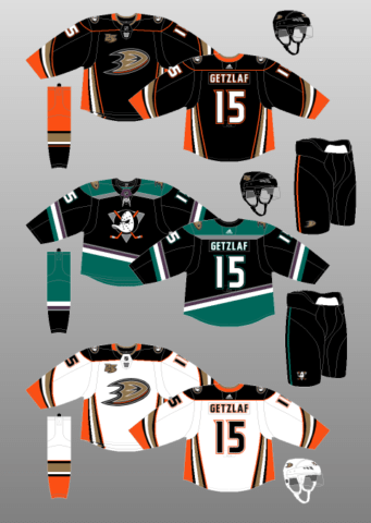Anaheim Ducks 2018-Present Jerseys