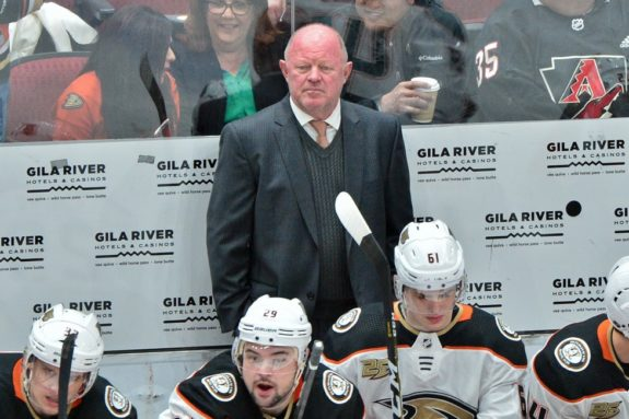 Anaheim Ducks interim head coach and general manager Bob Murray