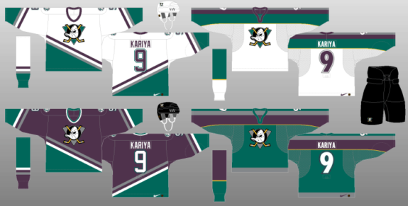 Anaheim Mighty Ducks 1998-99 Jerseys