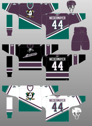 9ea657869 Anaheim Mighty Ducks 2003-06 Jerseys