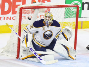 Anders Nilsson , Philadelphia Flyers vs Buffalo Sabres - October 25, 2016 (Amy Irvin / The Hockey Writers)