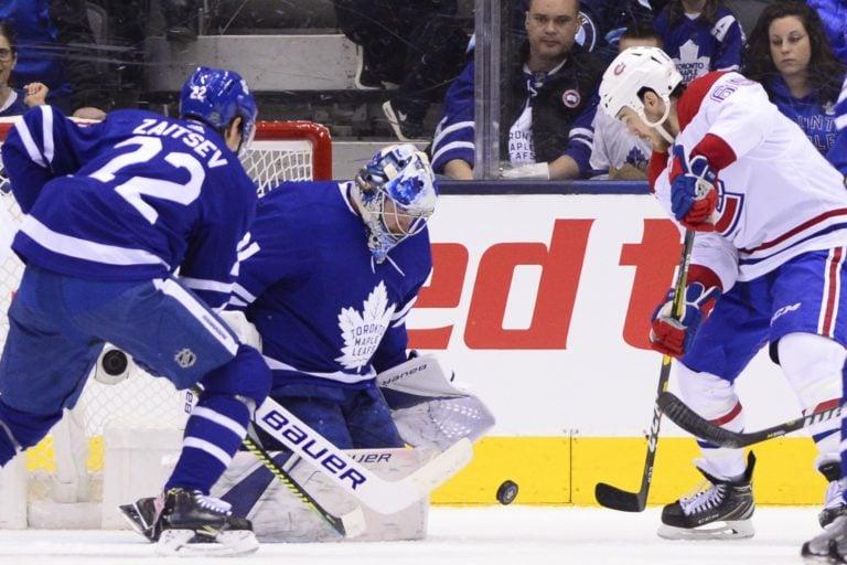 Toronto Maple Leafs Frederik Andersen Montreal Canadiens Andrew Shaw