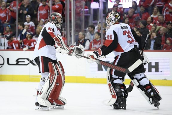 Ottawa Senators Anders Nilsson Craig Anderson
