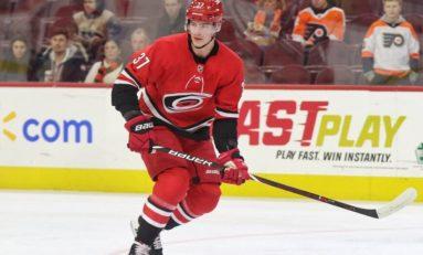 Svechnikov's Lacrosse Goal Leads Hurricanes past Flames 2-1