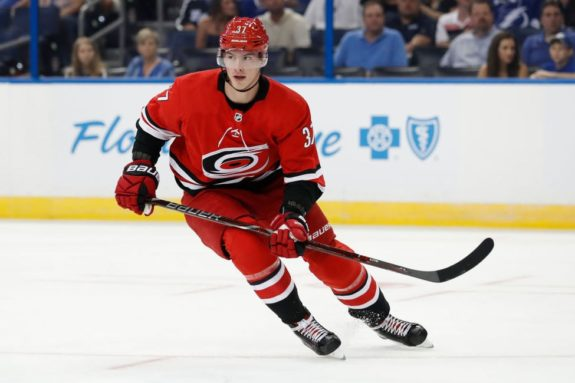 Hurricanes right wing Andrei Svechnikov