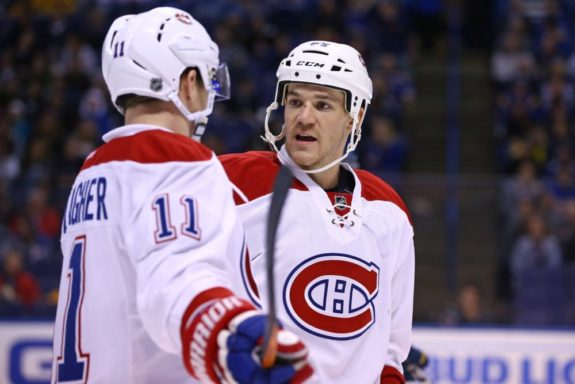 Montreal Canadiens forwards Brendan Gallagher and Andrew Shaw