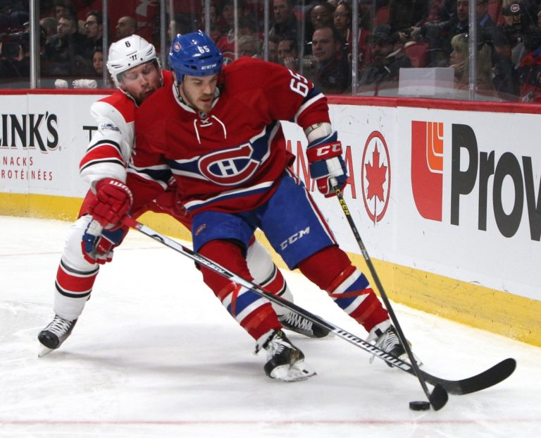 Montreal Canadiens center Andrew Shaw