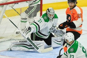 Niemi has been better against the Wild this season. (Amy Irvin / The Hockey Writers)