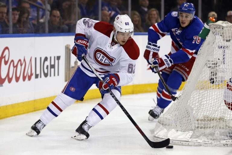 Montreal Canadiens left wing Artturi Lehkonen