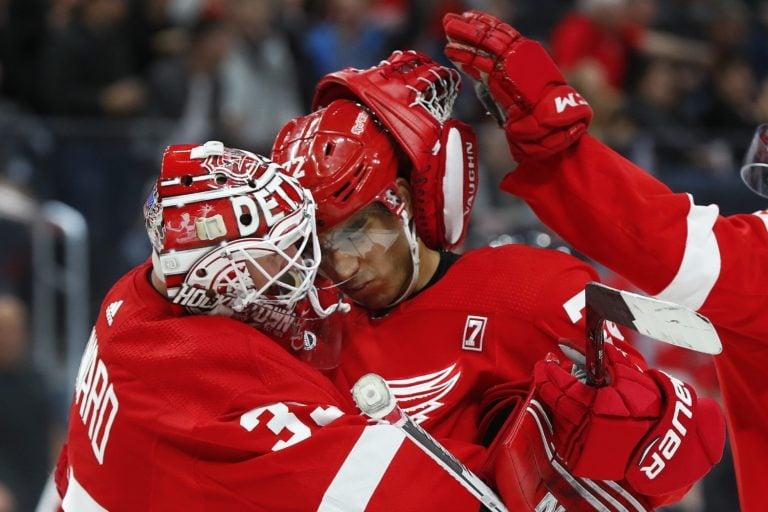 Detroit Red Wings Jimmy Howard Andreas Athanasiou