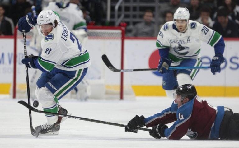 Vancouver Canucks Loui Eriksson Colorado Avalanche Tyson Barrie