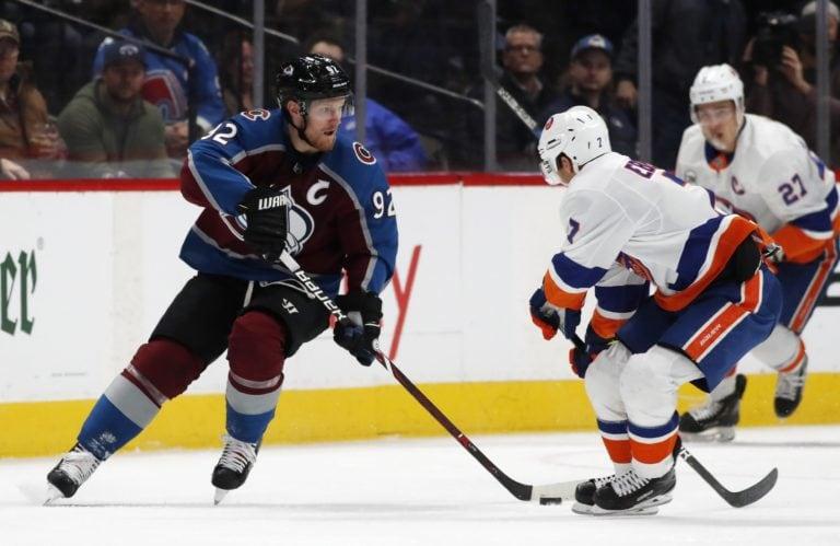 Colorado Avalanche Gabriel Landeskog New York Islanders Jordan Eberle