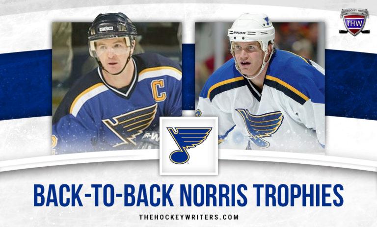 St. Louis Blues' Back-to-Back Norris Trophy Winners, Al MacInnis and Chris Pronger