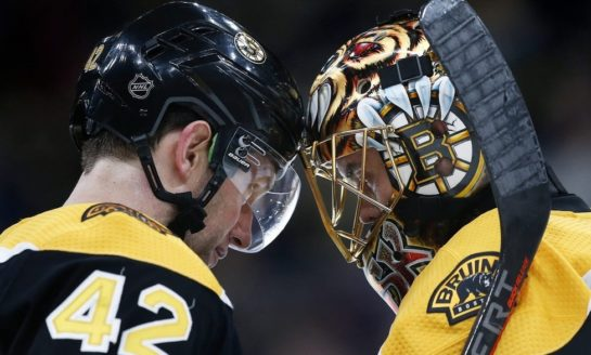 Bruins Beat Up Blues - Rask Ties Franchise Record