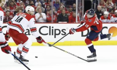 Hurricanes' Mistakes Serve Capitals Well in Game 1