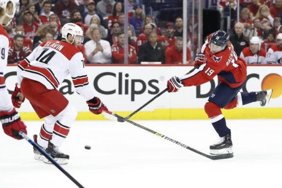 Washington Capitals Nicklas Backstrom Carolina Hurricanes Jaccob Slavin