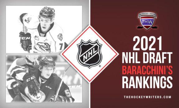 Brandt Clarke and Carson Lambos 2021 NHL Draft Baracchini's Rankings