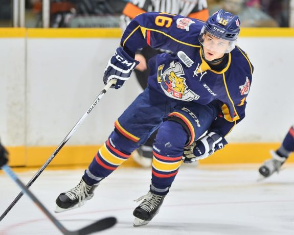 Ben Hawerchuk of the Barrie Colts