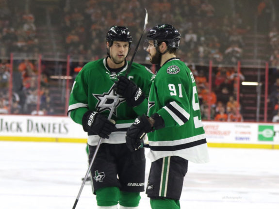 Tyler Seguin Trade, pictured with Jamie Benn