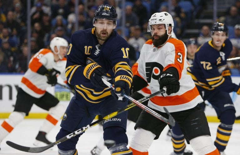 Buffalo Sabres Patrik Berglund Philadelphia Flyers Radko Gudas