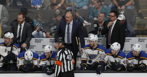 St. Louis Blues' head coach Craig Berube