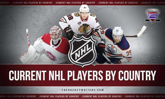 Current NHL Players by Country: On Top of Their Game and the World