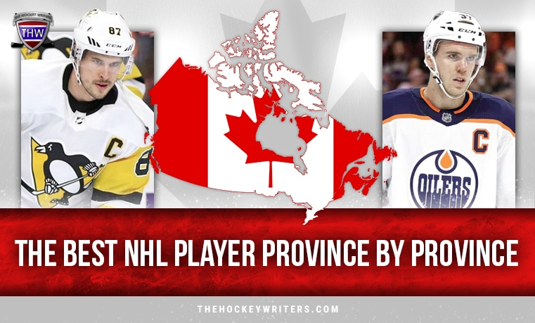 The Best Current NHL Player Province by Province Connor McDavid and Sidney Crosby Canada