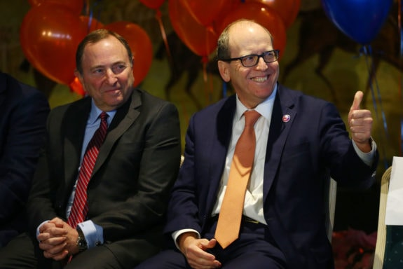 Owner New York Islanders, Jon Ledecky Gary Bettman