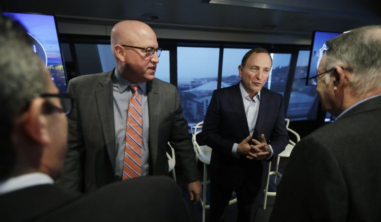 NHL Commissioner Gary Bettman Deputy Commissioner Bill Daly