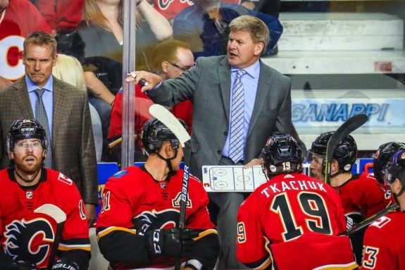 Calgary Flames head coach Bill Peters