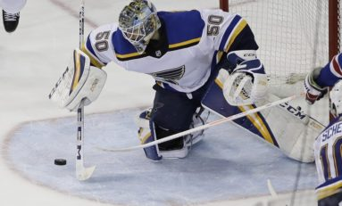 Binnington Leads Blues past Wild 2-1