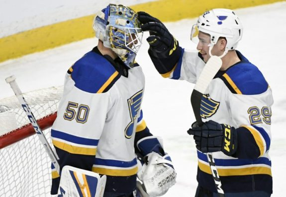 St. Louis Blues Jordan Binnington Vince Dunn