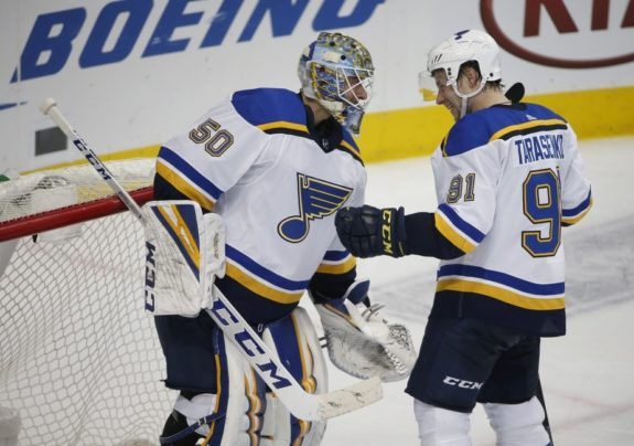 St. Louis Blues Jordan Binnington Vladimir Tarasenko
