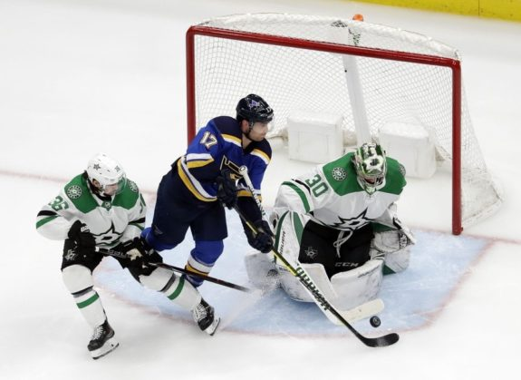 St. Louis Blues Jaden Schwartz Dallas Stars Ben Bishop